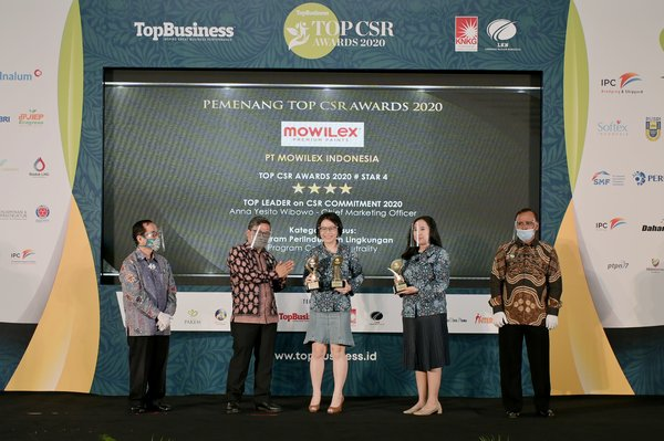 PT MOWILEX INDONESIA has won 3 Award categories at the biggest CSR awards event in Indonesia, TOP CSR Awards 2020