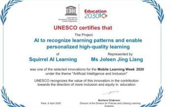 Squirrel AI Learning Wins UNESCO AI Innovation Award