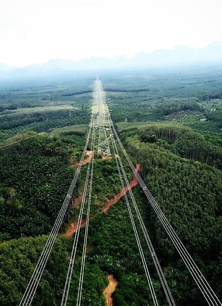 Surathani Phuket Transmission Line in Thailand
