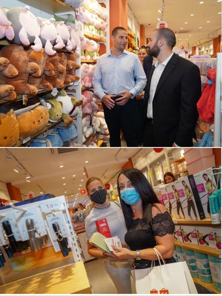 The Prime Minister of Malta and locals visiting the first MINISO store in Malta