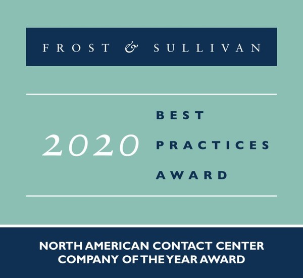 2020 North American Contact Center Company of the Year Award