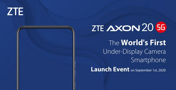 ZTE Axon 20 5G to be launched on Sep. 1, 2020