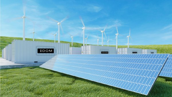 3D illustration of 3DOM's battery energy storage systems (not actual equipment)