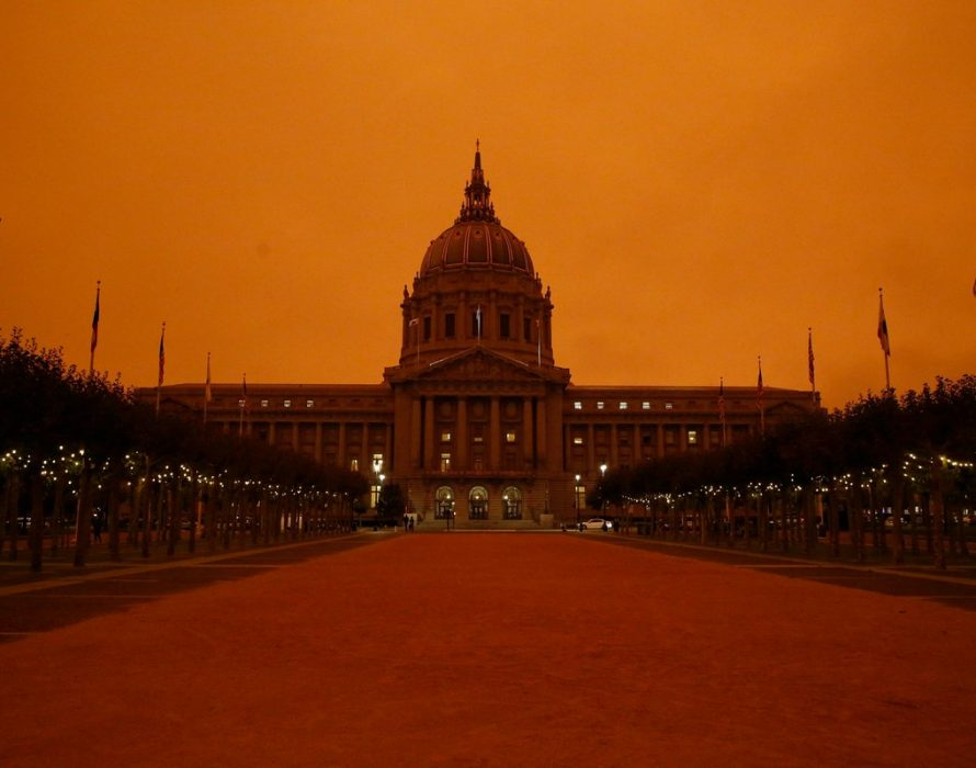 San Francisco sky turns orange due to massive wildfires