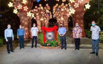 A tribute to front-line medical workers: China Life Insurance (Singapore) sponsors Apricot Grove lantern display at Gardens by the Bay's Mid-Autumn Festival 2020