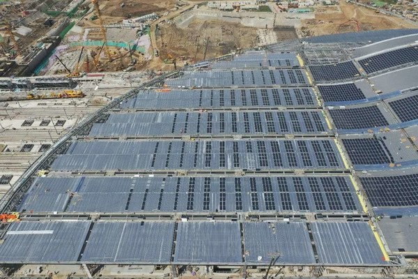 Installation of the solar modules