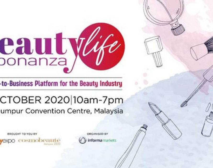 Beautylife Bonanza will be held on 1-3 October 2020