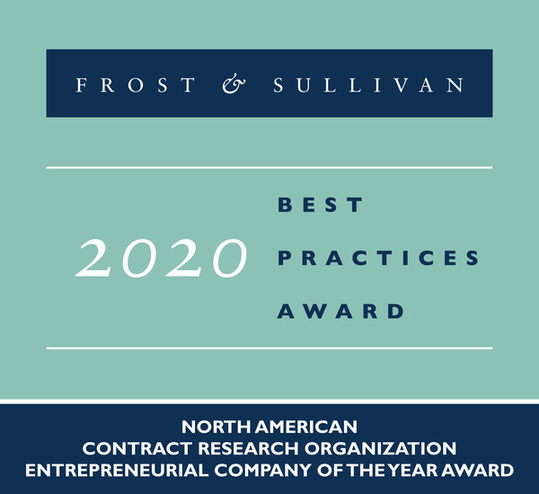 2020 North American Contract Research Organization Entrepreneurial Company of the Year Award
