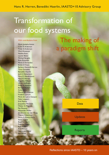 """Book cover """"Transformation of our food systems - The making of a paradigm shift""""; published September 2020 by a team of 40 international experts. Credits: Biovision Foundation / Foundation on Future Farming."""