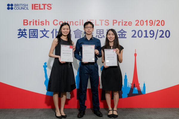 Congratulations to our local IELTS Prize winners of 2019/20. (From L-R: The 2nd Winner - Winky Lee, The 1st Winner - Benjamin Oh & The 3rd Winner, Manna Li)
