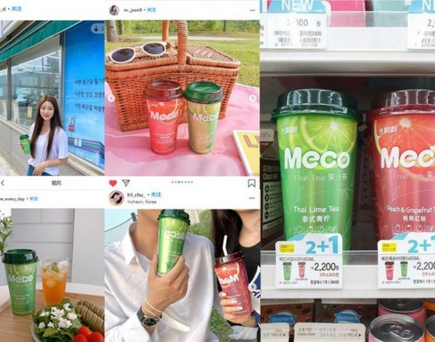 Chinese milk tea manufacturer Xiangpiaopiao's Meco juice teas become available throughout South Korea's GS25 convenience store chain