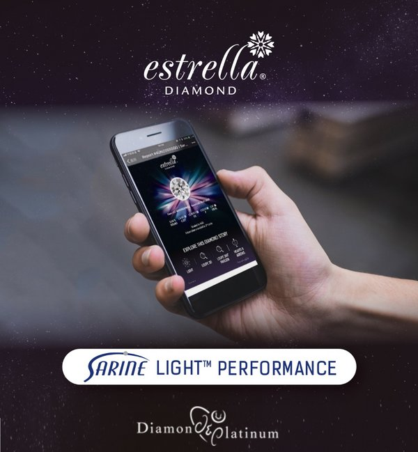 Diamond & Platinum Adopts Sarine Light™ Performance Diamond Report for its Estrella Diamond Collection