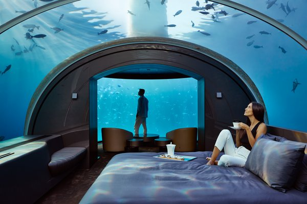 A first-of-its-kind two level residence with a master bedroom submerged over 16 feet below sea level.