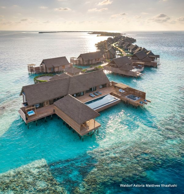 Total privacy guaranteed, with each of the 119 luxuriously appointed villas, perfectly positioned for uninterrupted views across the crystalline seas.