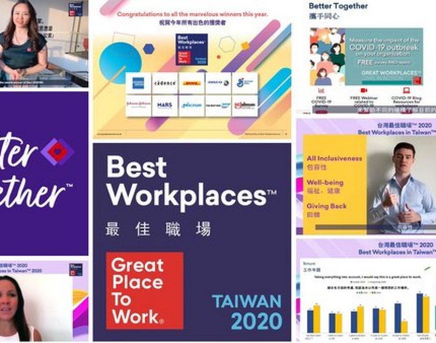 Great Place to Work® releases its inaugural annual list as Best Workplaces in Taiwan™ 2020