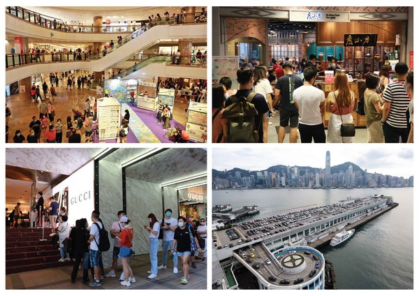 Impressive shoppers' traffic and repeat purchase brought by Sales Promotion of Harbour City, Mall in Hong Kong. All carparks are full in weekend.