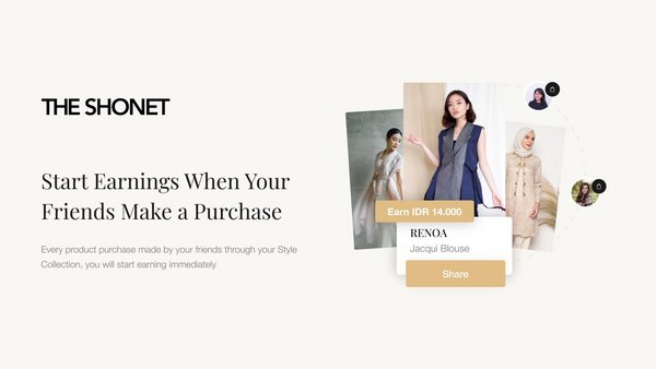 the Shonet where you can Shop and Earn