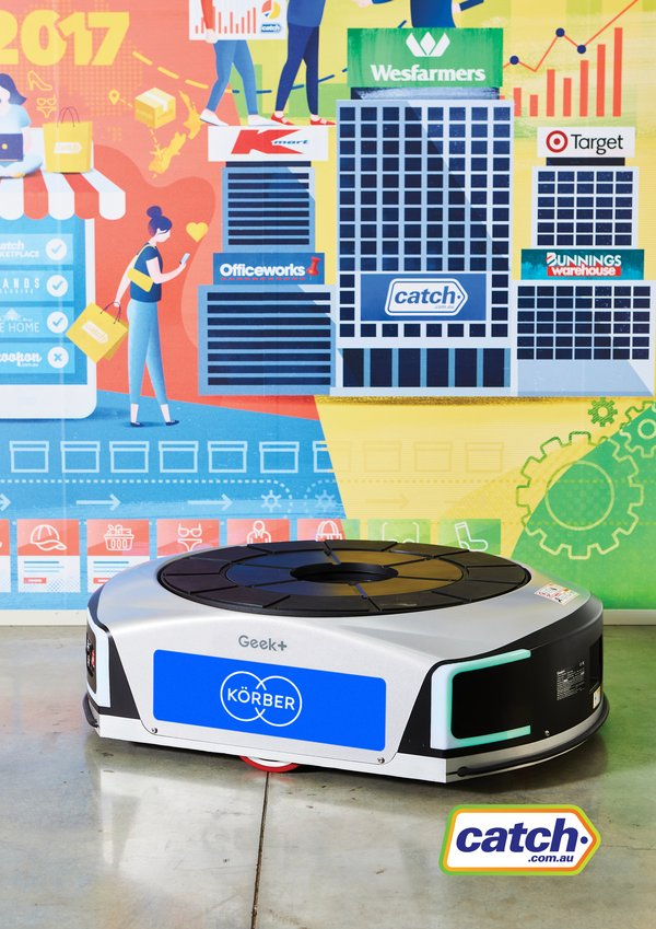 Körber set to roll out the largest deployment of autonomous mobile robots in Australia and New Zealand for leading online retailer Catch Group.