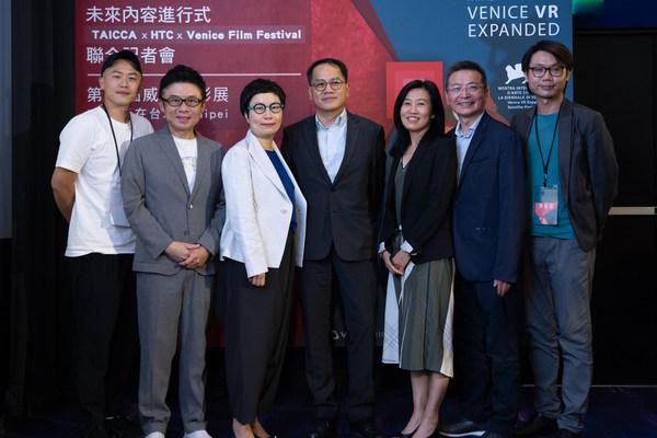 (From left to right) Hsu Chih-yen, Liu Szu-ming, Ting Hsiao-ching, Peng Chun-heng, Hu Ching-fang, Joe Chang, Tang Chih-chung