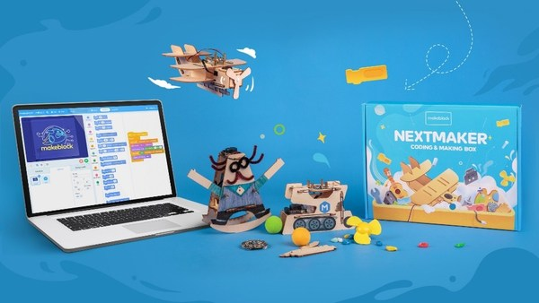 NextMaker Box is a fun kit for at-home kids to learn coding and STEM. It includes hardware, interactive e-learning portal and CSTA standard-aligned coding courses.It's now available on Kickstarter.