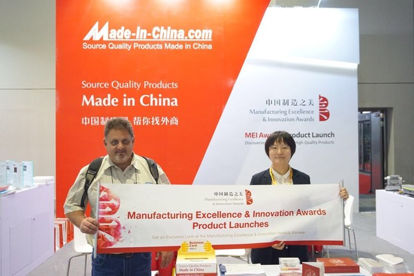 """The global buyer had a nice chat with the staff of MEI Awards at the """"Global Boutique Briefing""""."""
