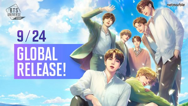 Netmarble announced global launch of an all-new BTS based interactive social game BTS Universe Story.