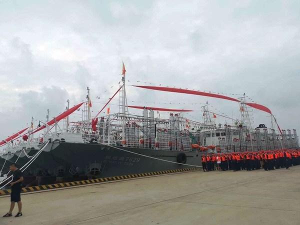 Pingtan Marine Enterprise Announces Departure of 10 New Squid Jigging Vessels