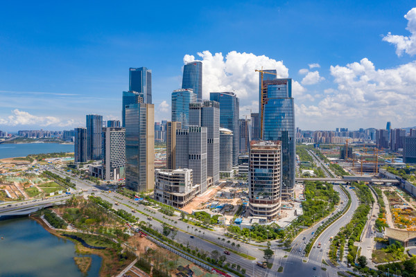 A view of the Guiwan International Financial Center of Qianhai.