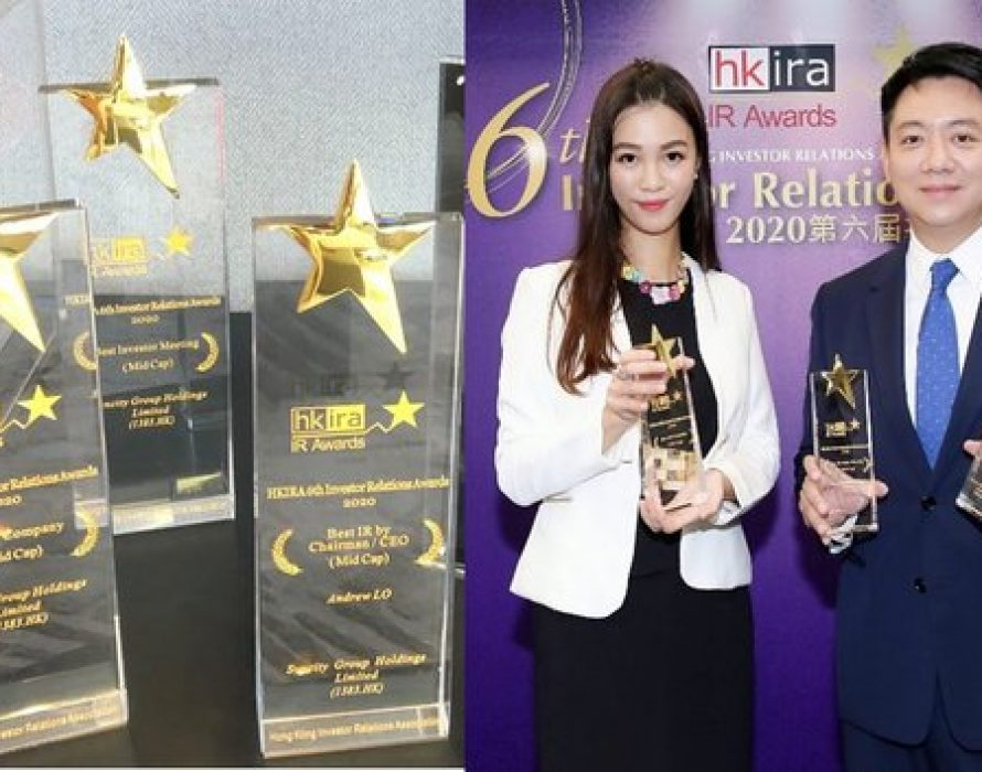 """Suncity Group Named """"Best IR Company"""" First-Time Ever In the 6th HKIRA Awards"""