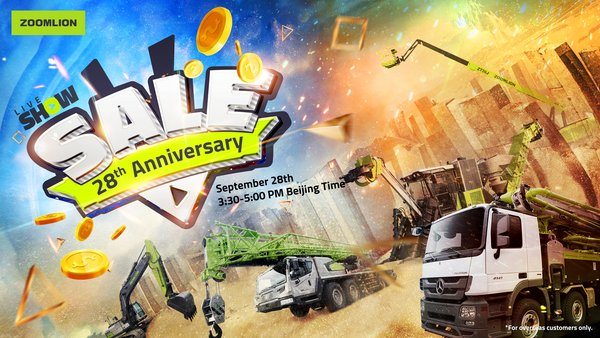 The Zoomlion 28th Anniversary Sale Is About to START