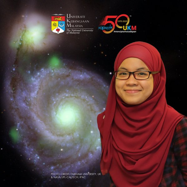 A scientist from Universiti Kebangsaan Malaysia (UKM), Dr. Adlyka Annuar, led a research that discovered two active supermassive black holes in nearby galaxies.
