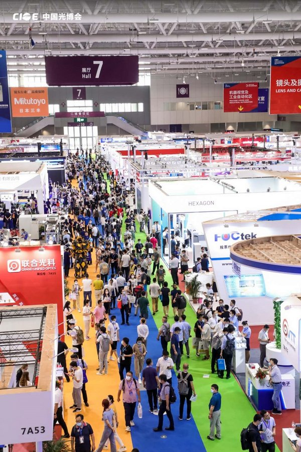 A vast optoelectronic professionals crowd gathered at the corridors of Hall 7.