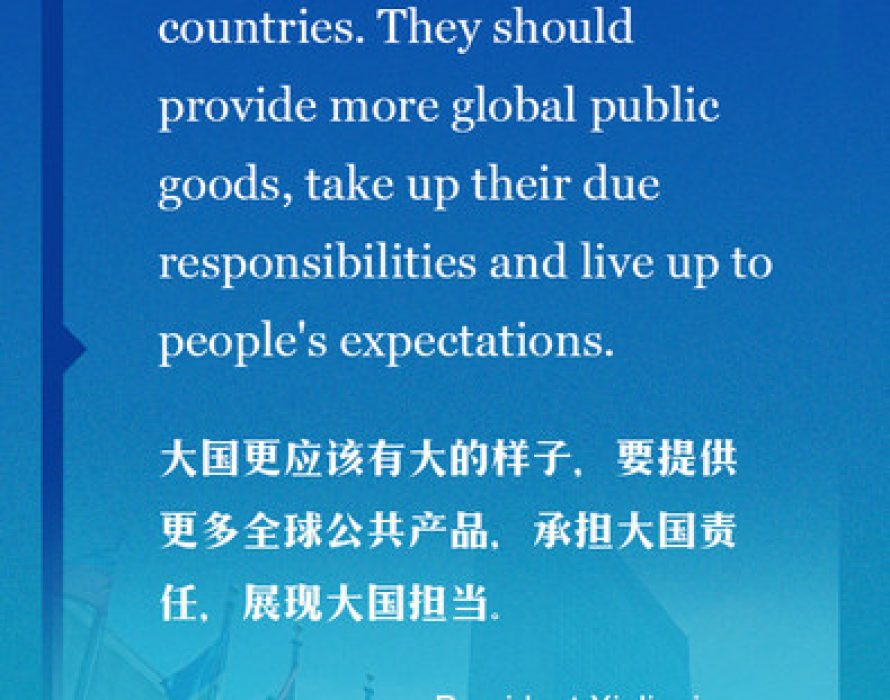 Xi: China committed to peaceful, open, cooperative, common development