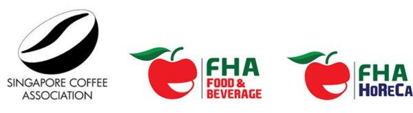 Singapore Coffee Association, FHA-Food & Beverage and FHA-HoReCa logos