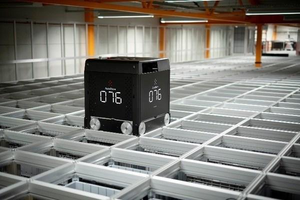The Black Line(TM): One of AutoStore's Automated Storage & Retrieval Systems