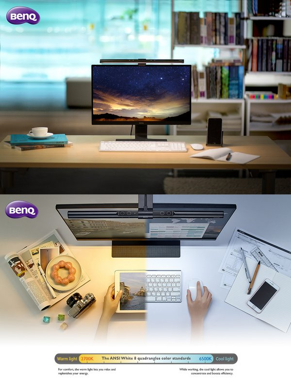 BenQ Launches GW2780T Eye-care Monitor and Monitor Light ScreenBar to Protect Consumers' Eye Health