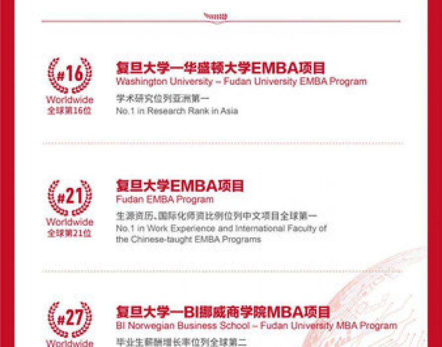 FDSM's Four Major Programs Rank Among FT's Global Top 40