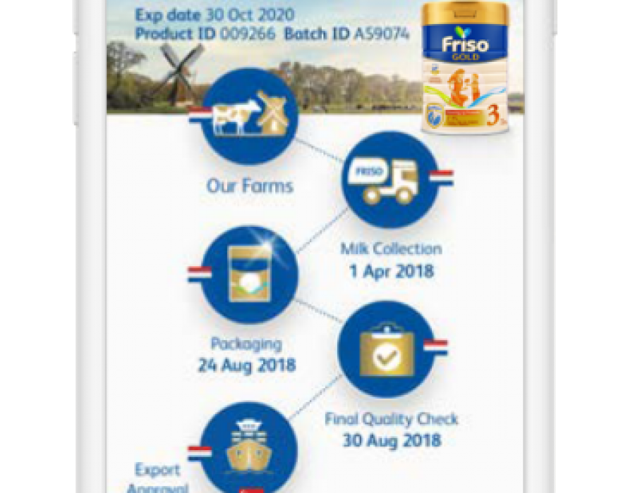FRISO First Brand in Singapore to Enable Mums to Track Source of Formula Milk