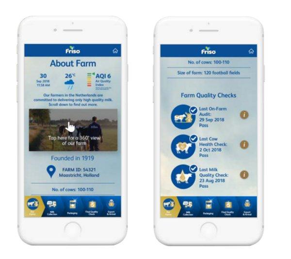 FRISO TrackEasy showcases FRISO's representative farms and quality checks at the farm level