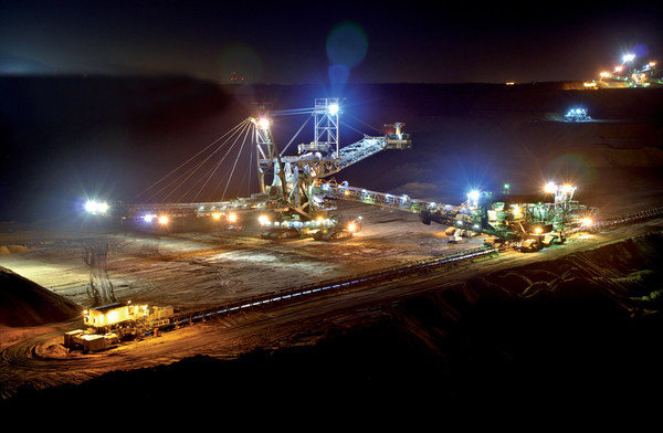Mining plant with bucket wheel application