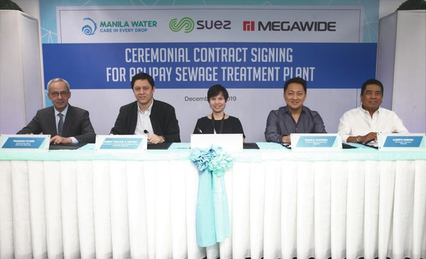 Manila Water and SUEZ attended the contract signing ceremony of the Aglipay Sewage Treatment Plant in Quezon City, the Philippines.