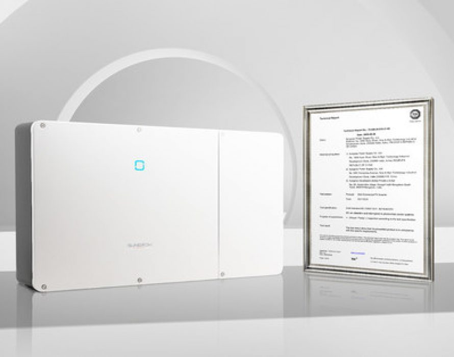 Sungrow Receives the World's First DC Arc Detection and Interruption Technical Report for SG110CX from TUV SUD