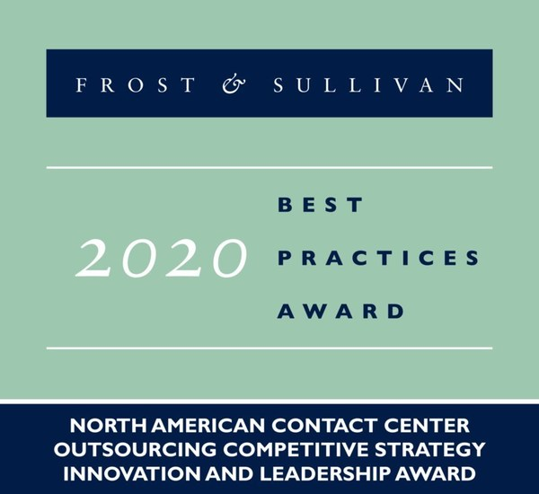 2020 North American Contact Center Outsourcing Competitive Strategy Innovation and Leadership Award