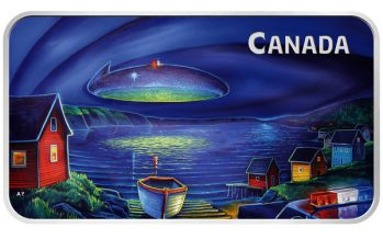 The Glowing Vision of a UFO Observed Over Clarenville, Newfoundland and Labrador Comes to Life on New Royal Canadian Mint Collector Coin