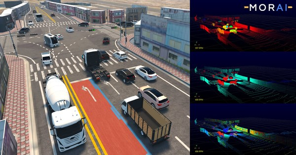 MORAI's autonomous vehicle simulation reconstructs complex scenarios in a 3D environment – allowing engineers to test their systems before deployment.