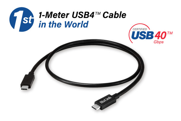 The Latest Breakthrough in USB4™ Cables for Greater Connection Flexibility between USB4 Devices -- BizLink is proud to announce the first 1-meter USB4 Gen 3 Type-C cable in the market, which is the longest USB4 cable with the USB-IF Test ID 4561.
