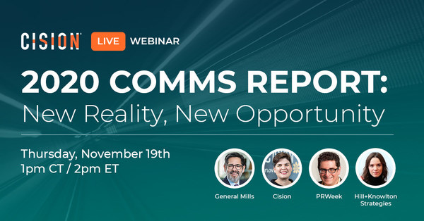 Cision & PRWeek's 2020 Comms Report Webinar