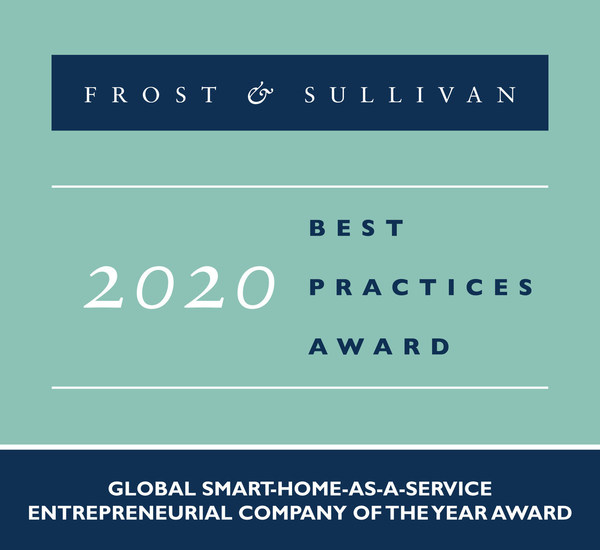 2020 Global Smart-Home-as-a-Service Entrepreneurial Company of the Year Award