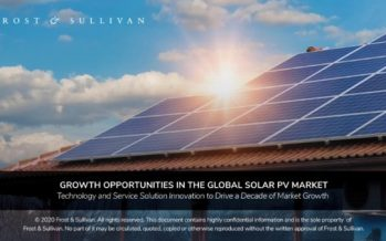 Frost & Sullivan Inspects the Growth Trajectory of Solar PVs Over the Next Decade