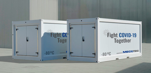First Mobile Hybrid Container Solution made by MECOTEC with an active deep cooling technology for transport, storage and distribution of COVID-19-Vaccines down to - 80 degrees Celsius / -112 Fahrenheit.